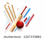 cricket championship poster or... | Shutterstock .eps vector #1267153882