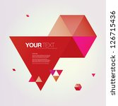 Abstract Color Triangles Text...