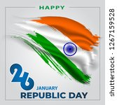 happy republic day of india...   Shutterstock .eps vector #1267159528