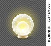 shining crystal ball on a... | Shutterstock .eps vector #1267179088