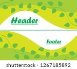 header and footer green leaves... | Shutterstock .eps vector #1267185892