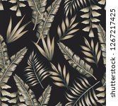 exotic spring tropical banana... | Shutterstock .eps vector #1267217425