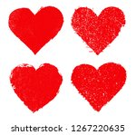 grunge hearts design.vector... | Shutterstock .eps vector #1267220635