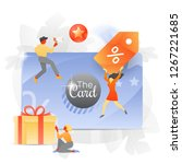 vector illustration of a big... | Shutterstock .eps vector #1267221685