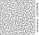 labyrinth of medium complexity. ... | Shutterstock .eps vector #1267228648