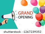 megaphone with speech bubble... | Shutterstock . vector #1267239352