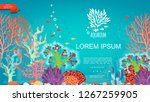 flat underwater colorful... | Shutterstock .eps vector #1267259905