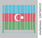 barcode set the color of... | Shutterstock .eps vector #1267263115