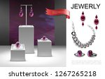 realistic jewelry composition | Shutterstock .eps vector #1267265218
