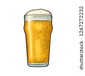 glass with beer. vintage color... | Shutterstock .eps vector #1267272232