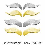 Silver and gold angel wings...