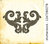 retro baroque decorations...   Shutterstock .eps vector #1267280278