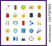 25 safe icon. vector... | Shutterstock .eps vector #1267287802