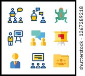 discussion icon. shared folder... | Shutterstock .eps vector #1267289218