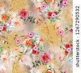 Flower Background Color Patter...