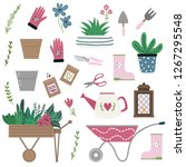 collection of tools and... | Shutterstock .eps vector #1267295548
