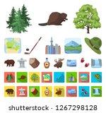 country canada cartoon flat... | Shutterstock .eps vector #1267298128