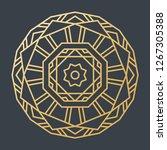 beautiful golden decoration... | Shutterstock .eps vector #1267305388