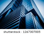 low angle view of skyscrapers... | Shutterstock . vector #1267307005
