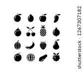 fruit icon set   Shutterstock .eps vector #1267307182