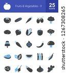 fruits   vegetables filled icons | Shutterstock .eps vector #1267308265