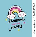 rainbow slogan happy    Shutterstock .eps vector #1267317742