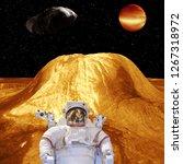 alien planet landscape....   Shutterstock . vector #1267318972