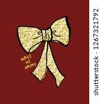 bow sequin slogan | Shutterstock .eps vector #1267321792