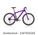 realistic bike  purple vector... | Shutterstock .eps vector #1267324165