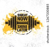 sweat now. shine later.... | Shutterstock .eps vector #1267330885