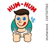 icon sticker emotion hungry... | Shutterstock .eps vector #1267337062