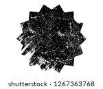 grunge black sticker.grunge...   Shutterstock . vector #1267363768