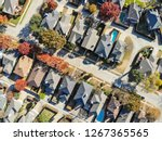 top view residential houses... | Shutterstock . vector #1267365565