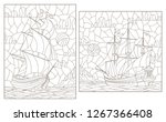 set contour illustrations of... | Shutterstock .eps vector #1267366408