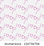 valentine's day seamless... | Shutterstock .eps vector #126736706