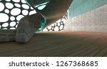 empty dark abstract concrete... | Shutterstock . vector #1267368685