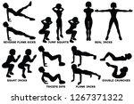 reverse plank kicks. reverse... | Shutterstock .eps vector #1267371322