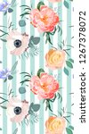 floral fashion pattern | Shutterstock .eps vector #1267378072