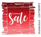 christmas sale banner design... | Shutterstock .eps vector #1267380892