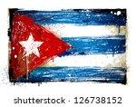 grungy cuban flag. eps 8 vector ... | Shutterstock .eps vector #126738152