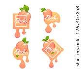 sweet peach flavor. vector... | Shutterstock .eps vector #1267407358