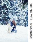 cheerful girl in the winter...   Shutterstock . vector #1267407388
