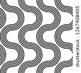 design seamless monochrome...   Shutterstock .eps vector #1267408405