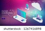 web development and coding....   Shutterstock .eps vector #1267416898
