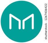 ryptocurrency maker  mkr   ... | Shutterstock .eps vector #1267436422