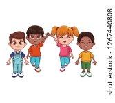 cute children cartoon | Shutterstock .eps vector #1267440808