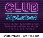 glowing violet and blue neon...   Shutterstock .eps vector #1267461505