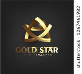 luxury gold star logo template | Shutterstock .eps vector #1267461982
