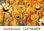 collection of designer oil... | Shutterstock . vector #1267464898