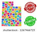social network map of utah... | Shutterstock .eps vector #1267466725